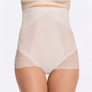 Spanx High Waisted Shaping Brief White Lace